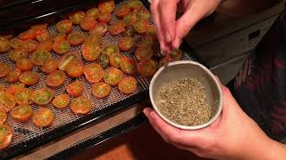 Preserving CHERRY TOMATOES by Drying them in Food Dehydrator