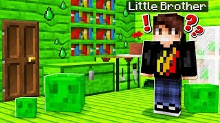 5 Ways to Prank Your Little Brother with SLIME! (Minecraft)