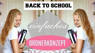 EINFACHE & OPTIMALE ORDNERGESTALTUNG / BackToSchool