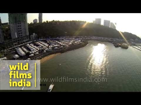 Pattaya beaches of Thailand : Aerial view
