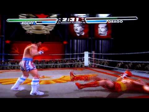 Game Play  Playstation 2 -Rocky Vs Ivan Drago
