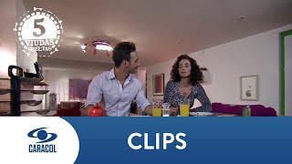 Samanta y Marcelo vuelven a tener un encuentro sexual - Cinco Viudas