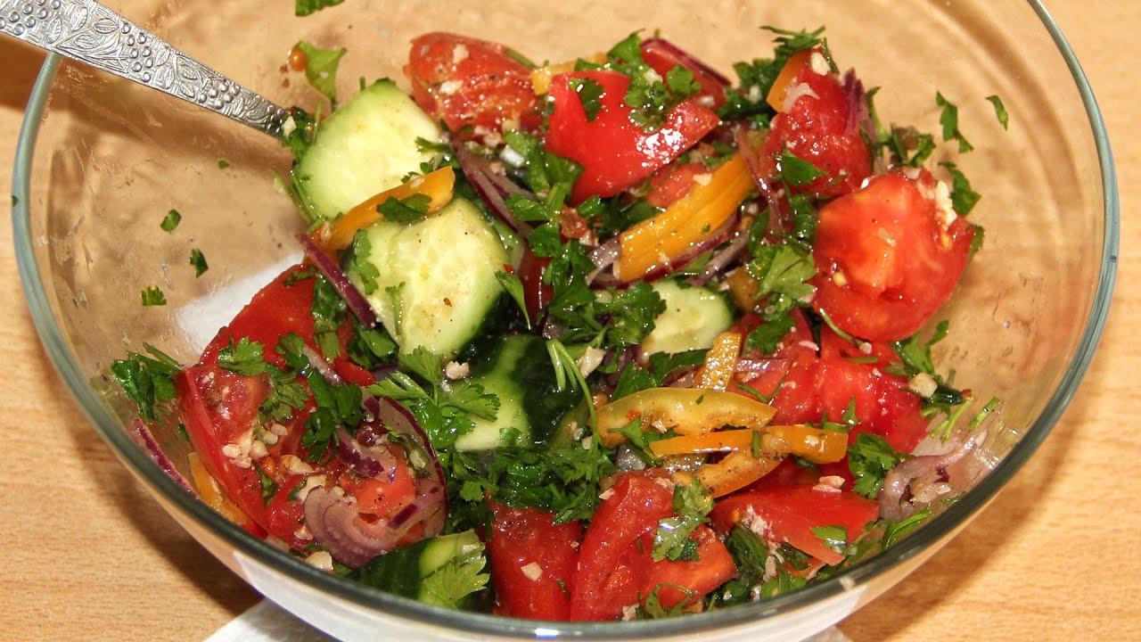 Рецепты легких салатов из овощей простые и вкусные