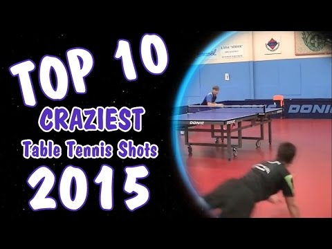 Top 10 Craziest Table Tennis Shots of 2015!