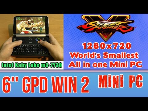 GPD WIN 2 Street Fighter V 5 (PC) - 256 GB SSD 8GB RAM Handheld Mini PC Intel m3-7Y30 HD 615