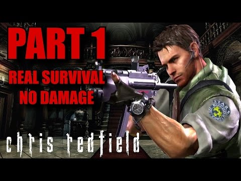 Resident Evil Remastered Real Survival Walkthrough Part 1 - Chris Redfield No Damage (PS4/PC)