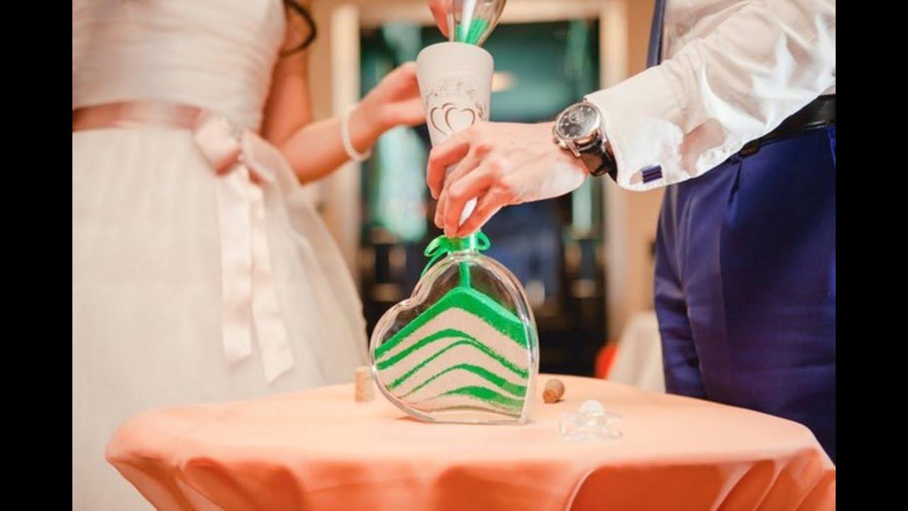 Цветной песок на свадьбу фото