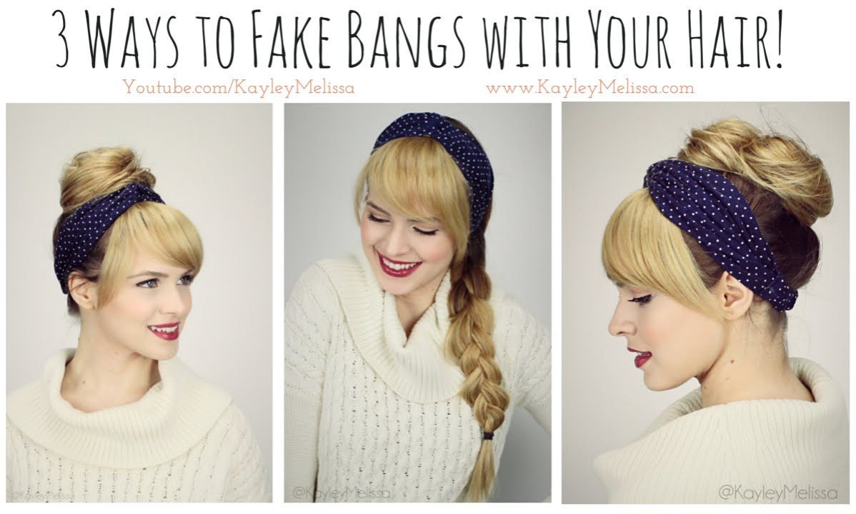 3 Ways To Fake Bangs With Your Hair Youtube