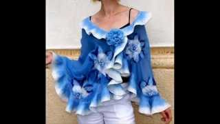 how to felt frilly scarf