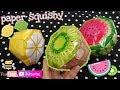 Cách Làm Squishy Giấy 3D Hình Dưa Hấu,Kiwi,Chanh Siêu Dễ! Making Paper Squishy Shape Water Melon,...