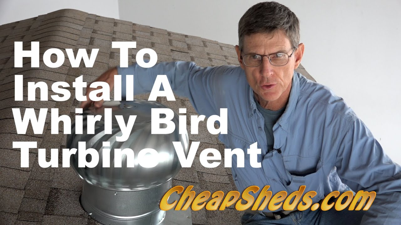 Install Roof Vent on Shed Vent on Your Shed Roof