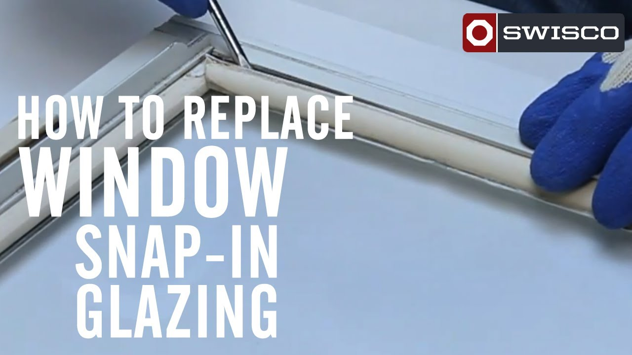 How To Replace Window Snap In Glazing Youtube