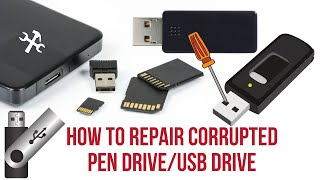 How to Repair Corrupted Pen Drive/Repair USB Flash Drive-Transcend [100% Working]