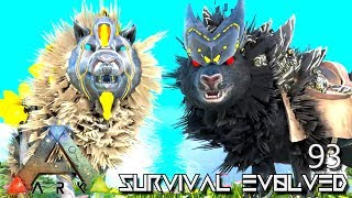 ARK: SURVIVAL EVOLVED - ALIEN TEK DIREWOLF & SABERTOOTH E93 !!! ( ARK EXTINCTION CORE MODDED )