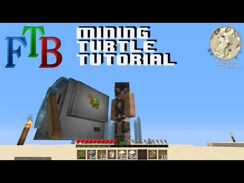 Minecraft Feed the Beast Tutorial - Mining Turtle (The Basics)