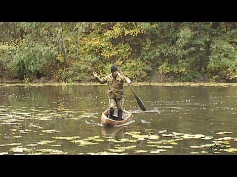 Как управлять долблёным челном / An equilibrist on the canoe