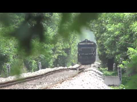 Offlink Emd Wdg-4 Roars Out Of Green Jungle Mumbai Mangalore Express video