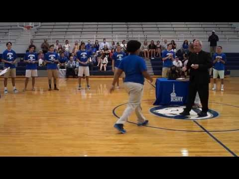 Jesuit High School (Tampa), basketball state championship ceremony, 4-26-13 (Part 1 of 3)