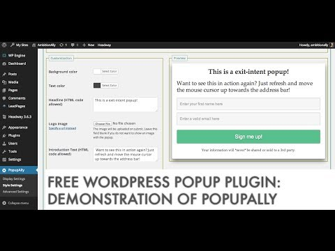 Free WordPress Popup Plugin: PopupAlly Live Demonstration