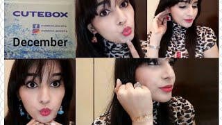 Cute Box December 2017   Unboxing & Try on Review   Discount   Affordable Jewelry Subscription  