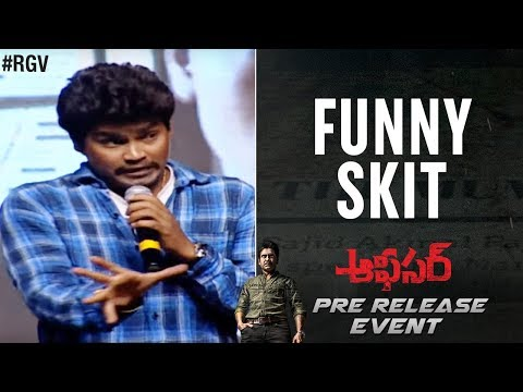 Officer Pre Release Event | Funny SKIT | Nagarjuna | RGV | Myra Sareen | Ram Gopal Varma | #Officer