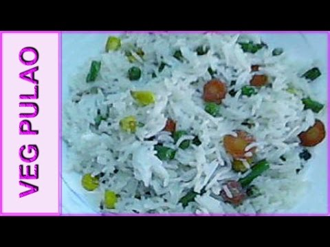 white vegetable pulao recipe - variety pulao recipe by mangal