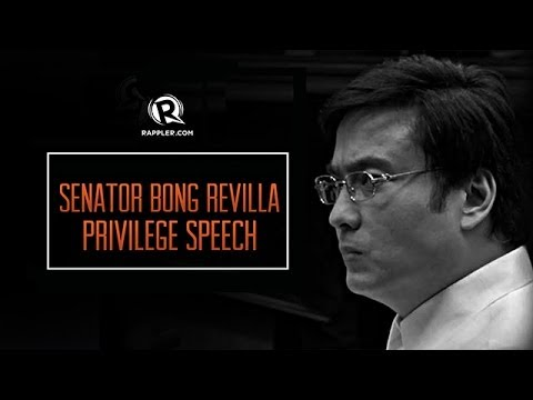 Senator Bong Revilla privilege speech | June 9, 2014