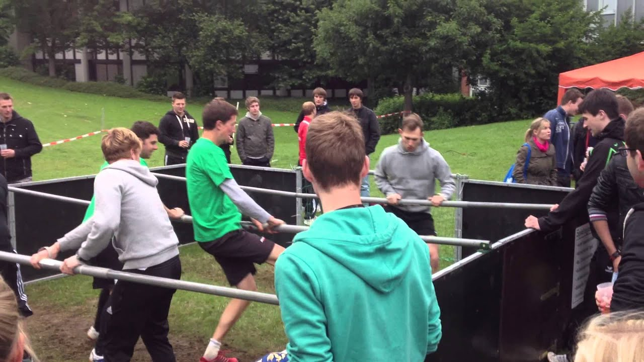 Human Foosball Court Youtube