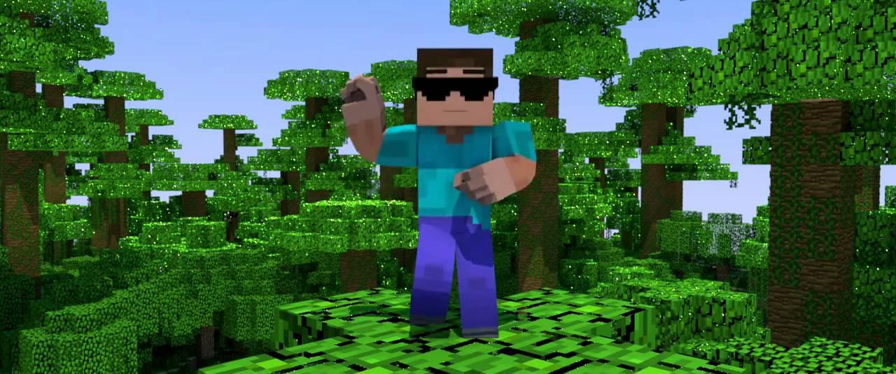 Chicken Minecraft Style Minecraft Gangnam Style