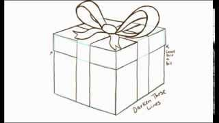 Нарисовать подарок на день рождения поэтапно карандашом