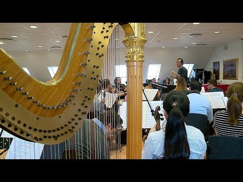 Az újévi tánckoncertre készül a Szolnoki Szimfonikus Zenekar 2020.01.09.