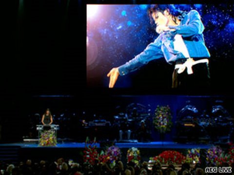 Michael Jackson Memorial Staples Center Mariah Carey Stevie Wonder, Usher, Brooke Shields&More