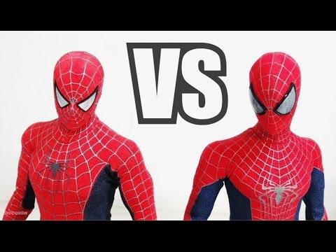 Hot Toys Amazing Spiderman 2 VS Spiderman 3 Comparação / DiegoHDM