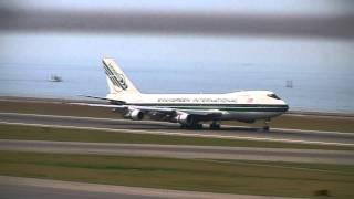 Evergreen International Airlines Boeing 747-200F N485EV Landing at Nagoya