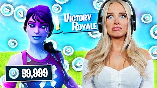 Giving my Duo 1000 V-BUCKS for EVERY Elimination in Fortnite - Challenge