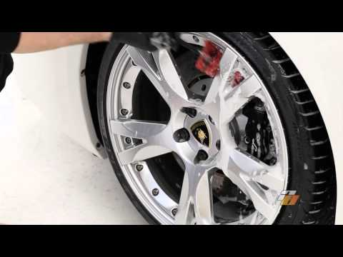 Tutorial: how to wash car wheels and tires demonstration