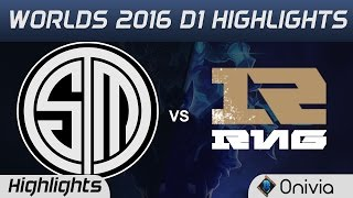 TSM vs RNG Highlights Worlds 2016 D1 Team Solo Mid vs Royal Never Give Up