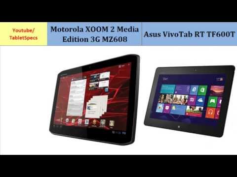 Motorola XOOM 2 MZ608 VS Asus VivoTab RT TF600T, specifications