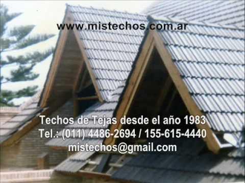 Techos de tejas casa juramento for Modelos de techos para galerias