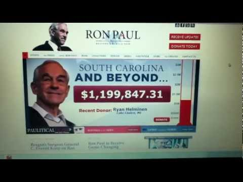 Ron Paul Gains Huge Endorsement from South Carolina Senator Tom Davis!!! 1/16/12