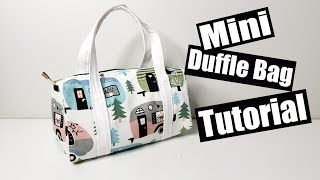 Mini Duffle Bag Sewing tutorial - Free pattern