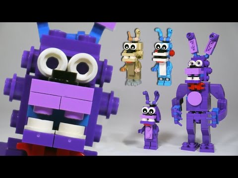 How to Build LEGO Bonnie (Toy. Withered & Springtrap)   LEGO FNAF