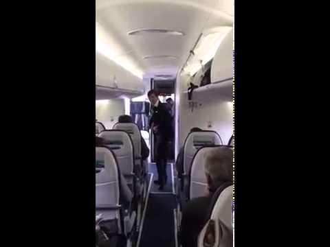 Flight Attendant Gets Funky