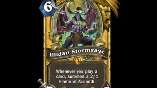 История карт Hearthstone: Illidan Stormrage (Иллидан ярость бури)