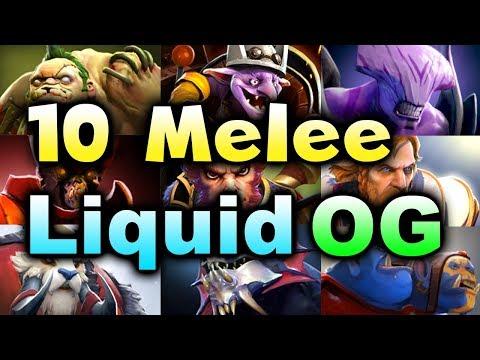 LIQUID vs OG - 10 MELEE STRAT! - MIDAS MODE DOTA 2