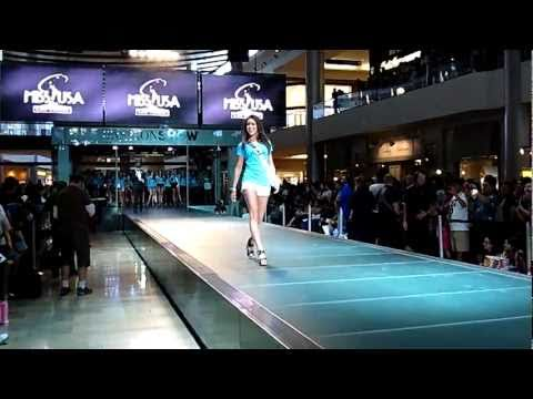 All of the Miss USA 2011 contestants continued walking the raised glass runway, inside of the Fashion Show Mall, on the famous Las Vegas Strip. Miss Alabama ...
