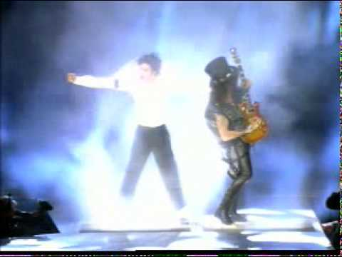 Slash with michael jackson!!