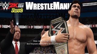 WWE 2K16 My Career Mode Cutscenes Part 2 (Joining Authority, Feud vs The Rock, Corporate WWE Champ)