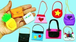 10 DIY Barbie Doll Miniature Purse, Handbag, Bag -10 Different Styles - 10 Easy DIY Doll Crafts #3