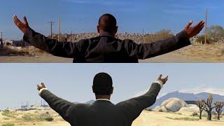 "[Side by side] Breaking Bad: Gus's ""Come at me"" scene | Remake/Parody in GTA V"